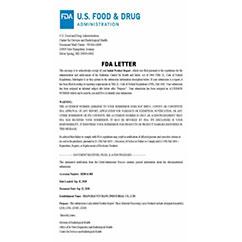 USA FDA Letter